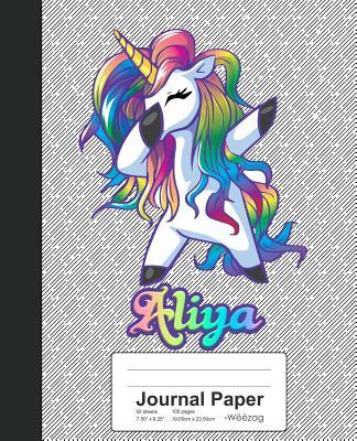 Journal Paper: ALIYA Unicorn Rainbow Notebook Cover Image