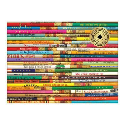 Phat Dog Vintage Pencils 1000 Piece Foil Stamped Puzzle Cover Image
