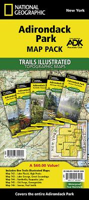 Adirondack Park [map Pack Bundle] (National Geographic Trails Illustrated Map) Cover Image