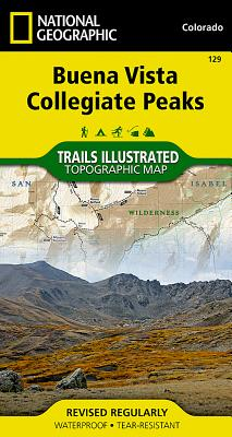 Buena Vista, Collegiate Peaks (National Geographic Trails Illustrated Map #129) Cover Image