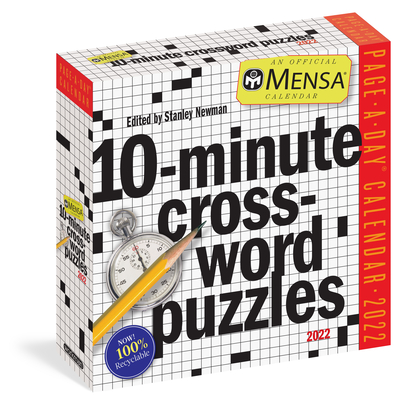 Cover for Mensa 10-Minute Crossword Puzzles Page-A-Day Calendar 2022