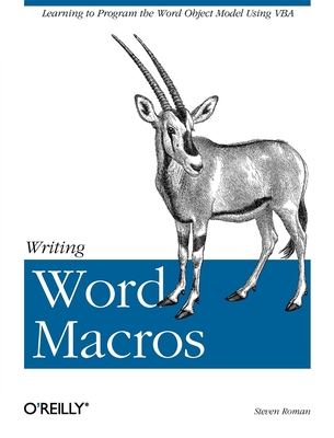 Writing Word Macros Cover Image