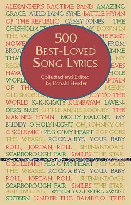 Cover for 500 Best-Loved Song Lyrics (Dover Books on Music)