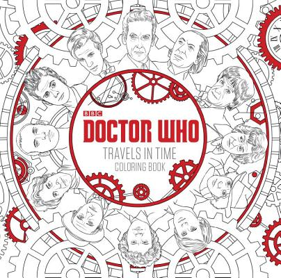 Doctor Who Travels in Time Coloring Book Cover Image
