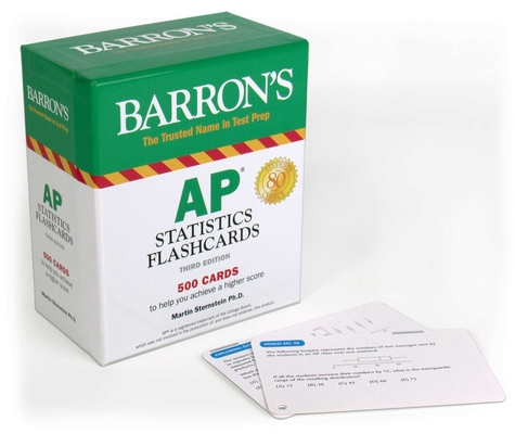 AP Statistics Flashcards (Barron's Test Prep) Cover Image