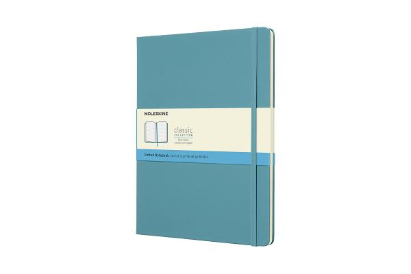 Moleskine Classic Notebook, Extra Large, Dotted, Reef Blue, Hard Cover (7.5 x 9.75) Cover Image