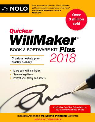 Quicken Willmaker Plus 2018 Edition: Book & Software Kit Cover Image
