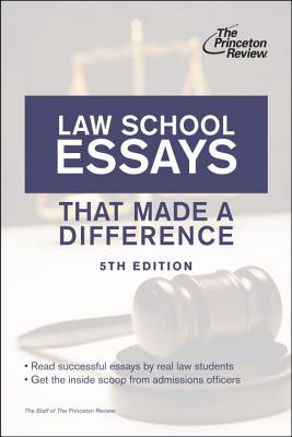 Law School Essays That Made a Difference Cover Image