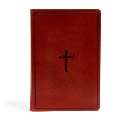 Cover for KJV Super Giant Print Reference Bible, Brown LeatherTouch, Indexed
