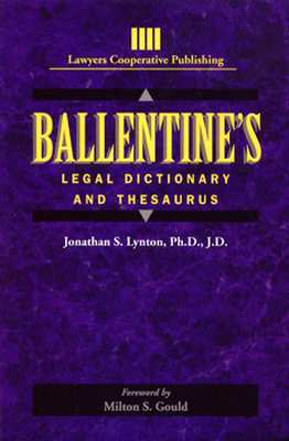 Ballentine's Legal Dictionary/Thesaurus (General Business & Business Ed.) Cover Image