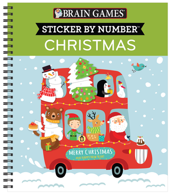 Brain Games - Sticker by Number: Christmas (Kids) [With Sticker(s)] Cover Image