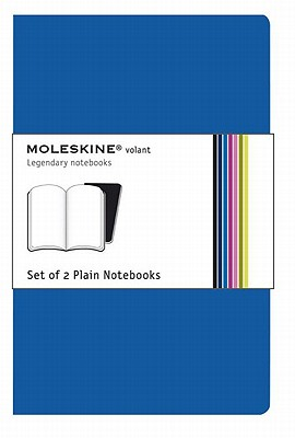 Moleskine Volant Notebook (Set of 2 ), Extra Large, Plain, Antwerp Blue, Soft Cover (7.5 x 10) Cover Image