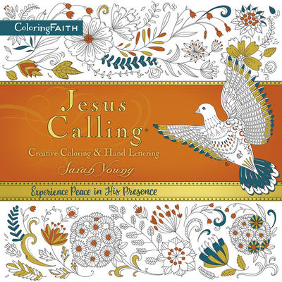 Jesus Calling Adult Coloring Book: Creative Coloring and Hand Lettering Cover Image