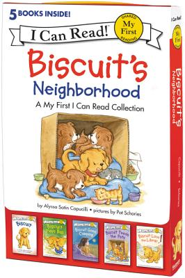 Biscuit's Neighborhood: 5 Fun-Filled Stories in 1 Box! (My First I Can Read) Cover Image