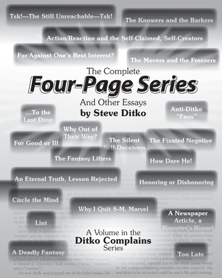 The Complete Four-Page Series And Other Essays Cover Image