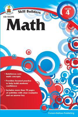 Math, Grade 4 (Skill Builders (Carson-Dellosa)) Cover Image