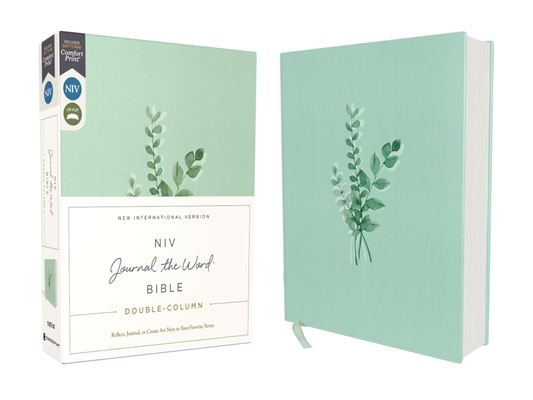 Niv, Journal the Word Bible, Double-Column, Cloth Over Board, Teal, Red Letter Edition, Comfort Print: Reflect, Take Notes, or Create Art Next to Your Cover Image