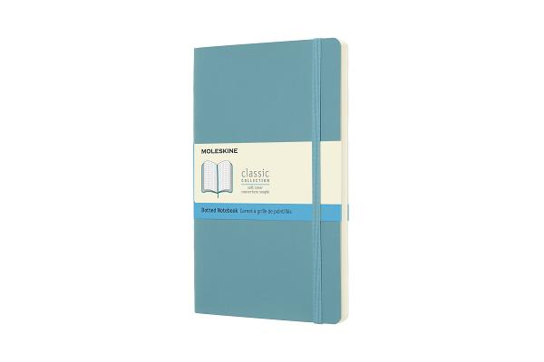Moleskine Classic Notebook, Large, Dotted, Reef Blue, Soft Cover (5 x 8.25) Cover Image