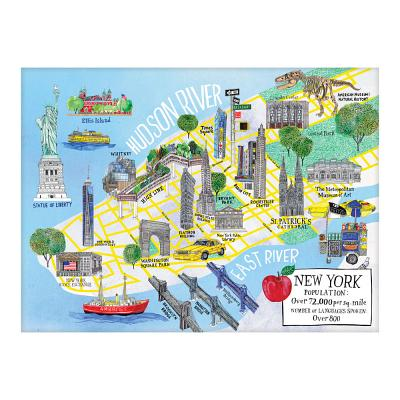 New York City Map 1000 Piece Puzzle Cover Image