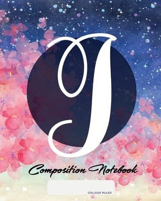 Composition Notebook: College Ruled - Initial J - Personalized Back to School Composition Book for Teachers, Students, Kids and Teens with M cover