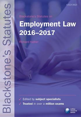 Blackstone's Statutes on Employment Law 2016-2017 Cover Image