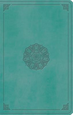 ESV Value Thinline Bible (Trutone, Turquoise, Emblem Design) Cover Image