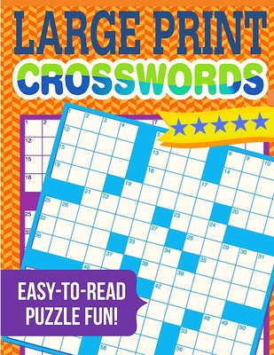 Classic Crossword Puzzles Book - Large Print Cover Image