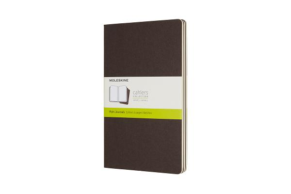 Moleskine Cahier Journal, Large, Plain, Coffee Brown (5 x 8.25) Cover Image