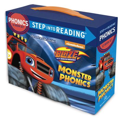 Monster Phonics (Blaze and the Monster Machines): 12 Step into Reading Books Cover Image