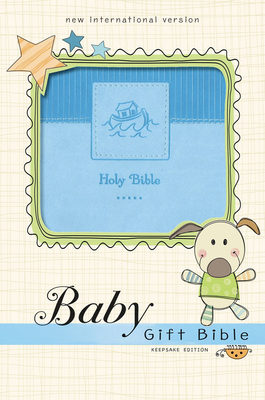 Niv, Baby Gift Bible, Holy Bible, Leathersoft, Blue, Red Letter, Comfort Print: Keepsake Edition Cover Image