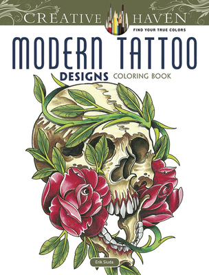 Modern Tattoo Designs (Creative Haven Coloring Books) Cover Image