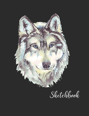Sketchbook: Activity Sketch Book Watercolor Abstract Painting Instruction Large 8.5 x 11 Inches with 110 Pages (Wolf Sketchbook Co Cover Image
