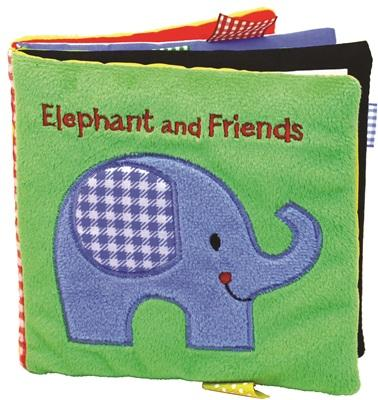 Elephant and Friends: A Soft and Fuzzy Book for Baby Cover Image