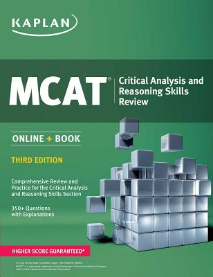 MCAT Critical Analysis and Reasoning Skills Review: Online + Book Cover Image