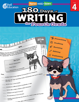 180 Days of Writing for Fourth Grade: Practice, Assess, Diagnose (180 Days of Practice) Cover Image