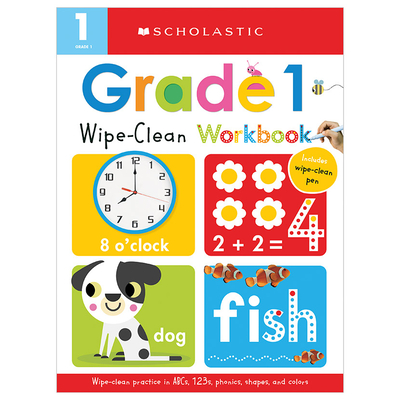 First Grade Wipe-Clean Workbook: Scholastic Early Learners (Wipe-Clean) Cover Image