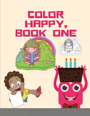 Color Happy, Book One: A Year of Themed Coloring Pages Designed by Personaldev Book and Happy Cover Image