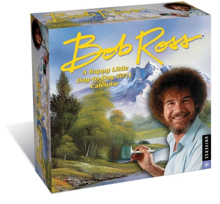 Bob Ross: A Happy Little Day-to-Day 2021 Calendar Cover Image