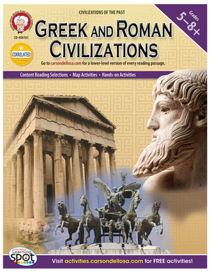 Greek and Roman Civilizations, Grades 5 - 8 (World History) Cover Image
