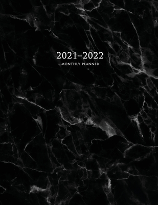 2021-2022 Monthly Planner: Large Two Year Planner with Marble Cover (Volume 4) Cover Image