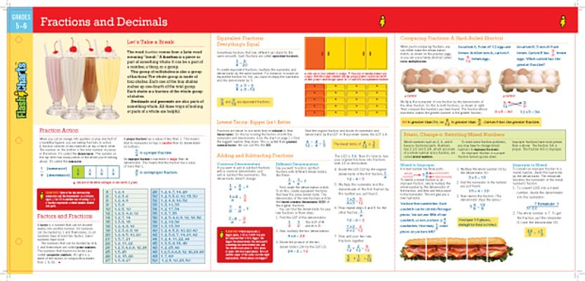 Cover for Fractions and Decimals Flashcharts