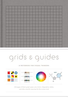 Grids & Guides (Gray): A Notebook for Visual Thinkers (blank deluxe clothbound journal with grid, dot, and graph patterns, great gift for designers, architects, and creative directors) Cover Image