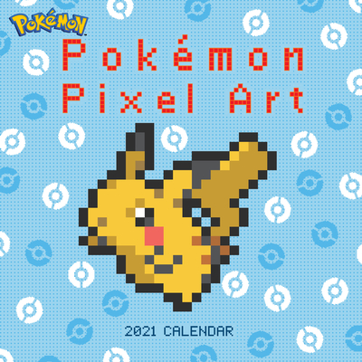 Pokémon Pixel Art Retro 2021 Wall Calendar Cover Image