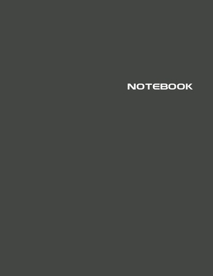 Notebook: Lined Notebook Journal - Stylish Broadway Black - 120 Pages - Large 8.5 x 11 inches - Composition Book Paper - Minimal Cover Image