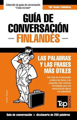 Guía de Conversación Español-Finlandés y mini diccionario de 250 palabras Cover Image