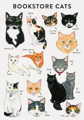 Bibliophile Flexi Journal: Bookstore Cats: (Cat Gifts for Cat Lovers, Cat Journal, Cat-Themed Gifts) Cover Image