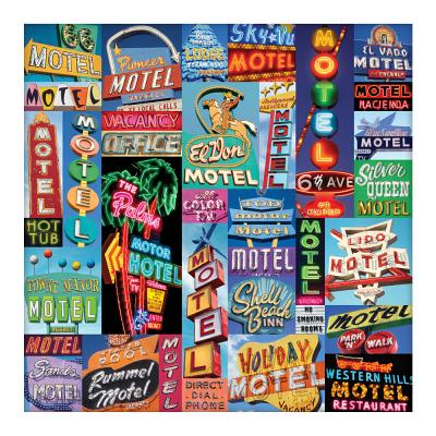 Vintage Motel Signs 500 Piece Puzzle Cover Image