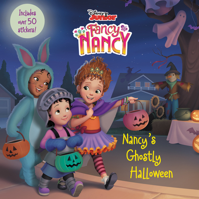 Disney Junior Fancy Nancy: Nancy's Ghostly Halloween: Includes Over 50 Stickers! Cover Image