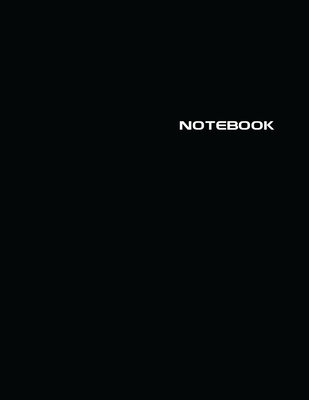 Notebook: Lined Notebook Journal - Stylish Black Onyx - 120 Pages - Large 8.5 x 11 inches - Composition Book Paper - Minimalist Cover Image