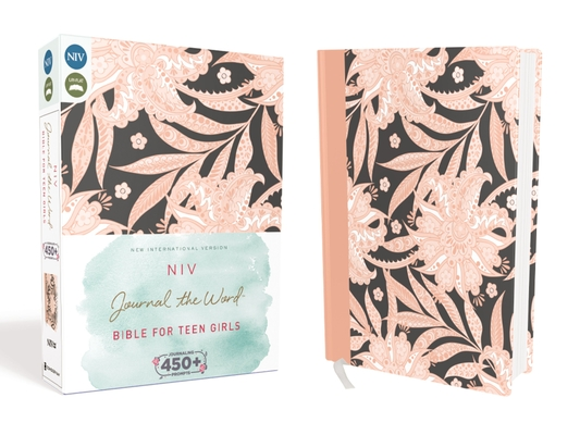 NIV, Journal the Word Bible for Teen Girls, Hardcover, Pink Floral: Includes Hundreds of Journaling Prompts! Cover Image